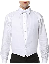 Men's White Formal Pique 100% Cotton Vest & Bow Tie