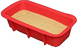 Silicone Bread Loaf Pan for Soap, Chocolate, Cake & Bread Baking - FDA Approved Food Grade Silicone 100% BPA Free