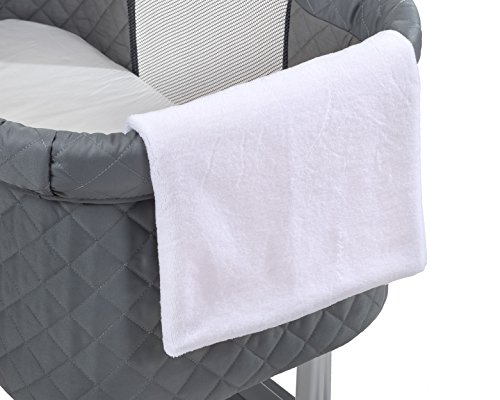 Green Frog Lily Pod Bassinet Replacement Sheets (White, 2 Fleece) ()