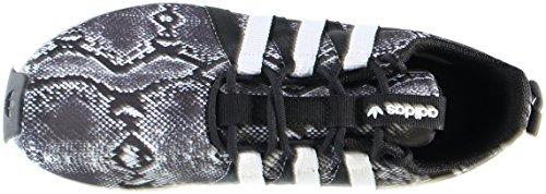 Adidas Originals Sl Loop Racer W zapatilla de deporte, choque verde / negro / blanco, 5 M US Black/White/Black