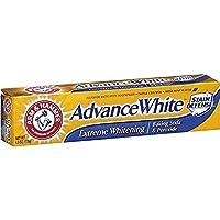 Brazo y martillo Advance White Extreme Whitening pasta de dientes limpia menta - 6 Oz- Paquete de 4