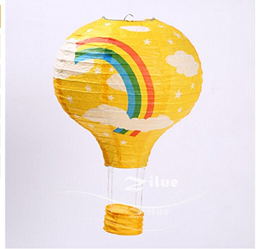 16-inch-Hot-Air-Balloon-Paper-Lantern-Chinese-Japanese-Paper-Lamps-Party-Paper-Lanterns-Lantern-Ball-Lamps-Decorations-Christmas-String-Lights-Pack-of-3-Yellow-Rainbow