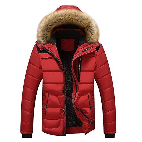 Caldo Cappuccio Abbigliamento Quilt Con Coat Plain Pelliccia Da Uomo Parka Jacket In Invernale Cardigan Rot Adelina Giacca OqpAPY