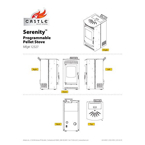 castle 12327 serenity wood pellet stove with smart