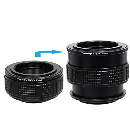 Fotasy M42 Lens to Fuji X Macro Focusing Helicoid, 42mm Focusing Helicoid, Compatible with M42 Lens and X-Pro2 X-E1 X-E2 X-E3 X-A5 X-M1 X-T1 X-T2 X-T3 X-T10 X-T20 X-T30 X-H1