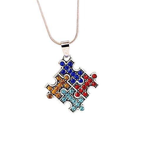Jaywine2 Autism Awareness Square Puzzle Crystal