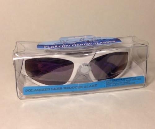 New Polarized Foster Grant Jimmy Houston Black Floating Fishing Sunglasses Case