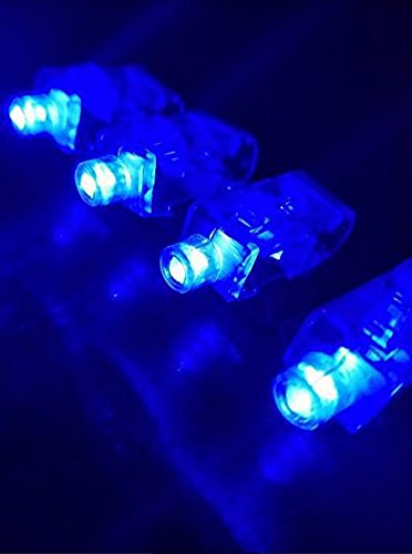 (Los Angeles Superstore (TM) 100 Pack of BLUE Bright Light Up Finger Light LED Party Favor)