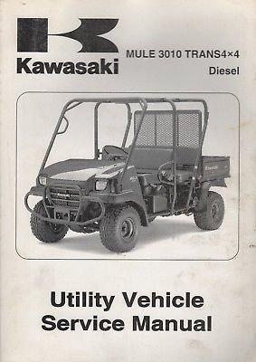 2008 KAWASAKI UTILITY ATV MULE 3010 TRANS4X4 SERVICE MANUAL 99924-1396-01 (Kawasaki Utility Atv)