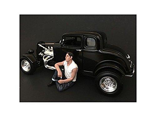 American Diorama-50s Car Miniature 38155, White/Black-5