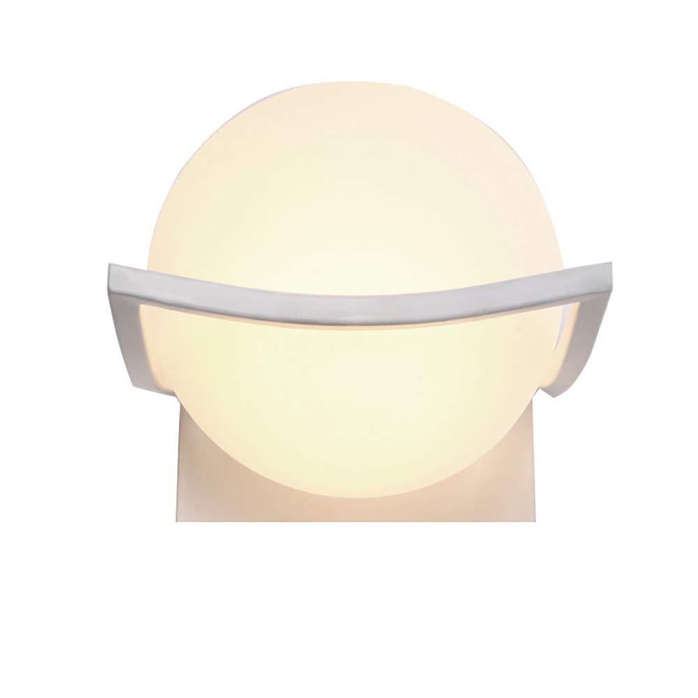 EFGS Wandleuchte, Moderner Minimalistischer Sphärischer Glaslampenschirm E27 Wandbeleuchtung Für Schlafzimmer-Wohnzimmer-Studie
