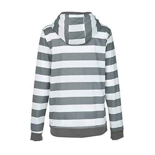 Oayard Blouse Sport Avec Long Femme Capuche Hiver Top Occasionnel Trench Gilet Vest Gris Manches Longues Manteau Zipper Coat Suit FrvHpqwxF