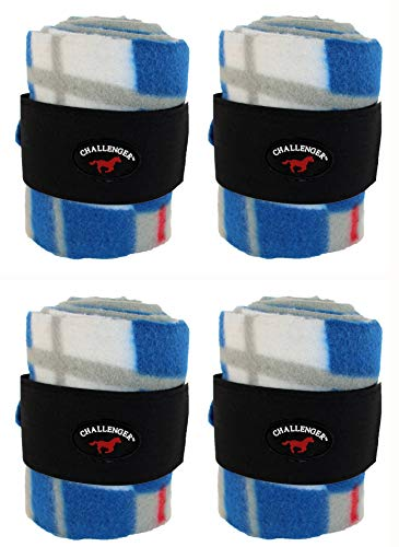 (CHALLENGER Horse Tack Grooming Leg Set of 4 Polo Wrap 95R27)