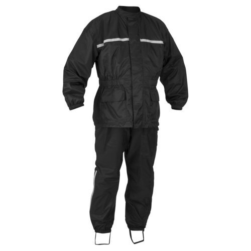 River Road High-N-Dry 2-Piece Rain Suit (Black, Large)