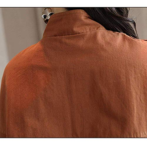 Manche Courte Longues Vêtements Chic Elégante Manteau Uni Large A Mode Manches Printemps Revers Automne Battercake Outerwear Casual Outdoor Branché D'extérieur Blouson Femme wqxCaFT