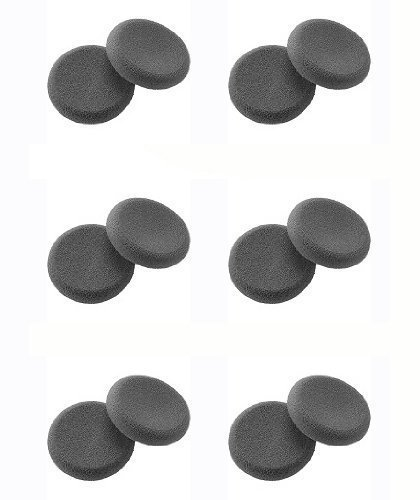 Replacement Cushion Ear 01 (Plantronics (43937-01) 6-Pairs Replacement Ultra soft Foam Ear Cushions for DuoSet H141, H141N and CS50, CS55 headset - Made in USA)