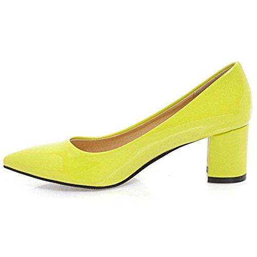 Coolcept Mujer Sin Cordones Bombas Zapatos Green-6CM