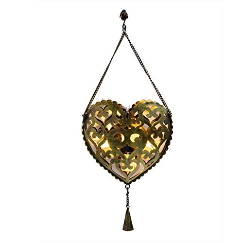 Decorative Gift Purpose Home Wall Decor Metal Candle Tealight Holder Heart Shaped ()