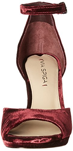 Via Spiga Womens Salina2 Platform Dress Sandal Bordeaux