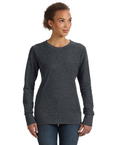 Scoop Jumper - Anvil Ladies' Ringspun French Terry Mid-Scoop Sweatshirt, Heather Dark Grey, X-Large