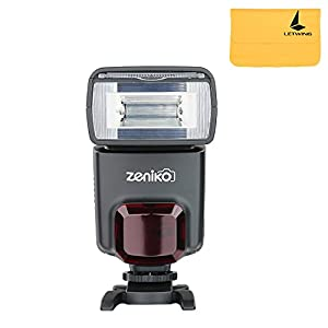 Zeniko ZT330 Flash Speedlite for Nikon Canon Sony Pentax Sigma Minolta Leica and Other SLR Digital SLR Film SLR Cameras and Digital Cameras with single-contact Hot Shoe