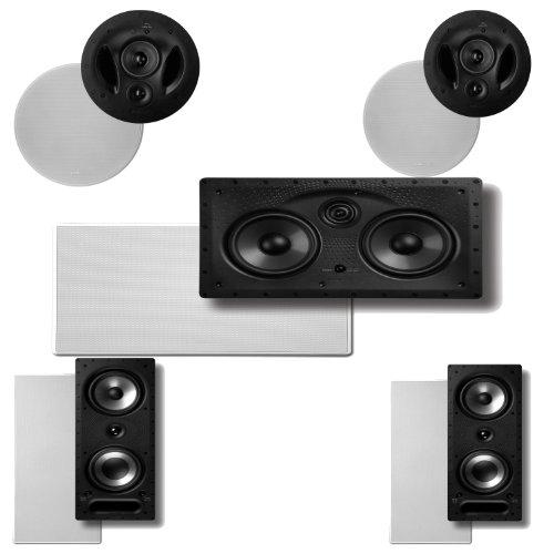 Polk Audio 90-RT in-Ceiling Speakers (Pair) Plus Polk Audio 265RT 3-Way in-Wall Speakers (Pair) & A Polk Audio 255C-LS…