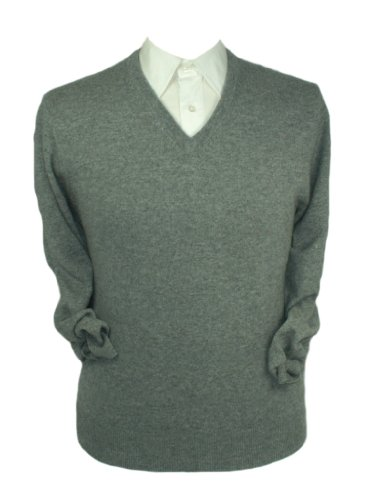 V Pull Gris Cachemire Pure Homme Col wnqxYqHp