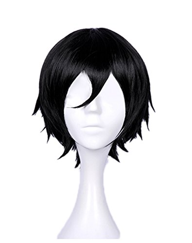 Zack Isaac Foster Cosplay Wig Xcoser Satsuriku no Tenshi Angel of Massacre Black Short Straight Hairs for -
