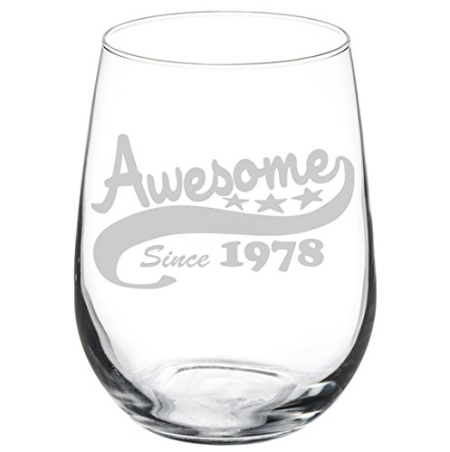 40 birthday wine glass - 5
