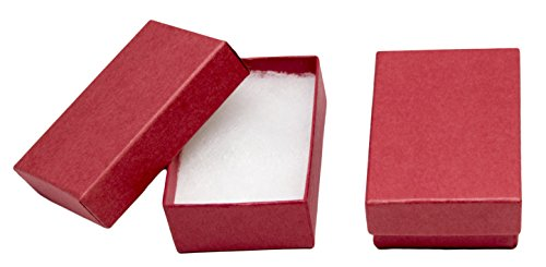 Novel Box MADE IN USA Jewelry Gift Box in Red Kraft With Removable Cotton Pad 2.5X1.8X1