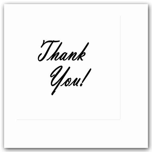 Thank You Classy Black Luncheon Napkin (16 CT) by Partypro from Partypro