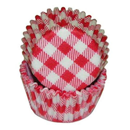 Mini Red Gingham Cupcake Cups Baking Liners 100 Count