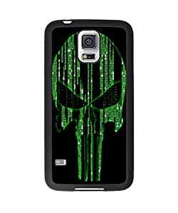 Super Cool Punisher Skull Green Plastic and TPU Case Cover for Samsung Galaxy S5 (Laser Technology)