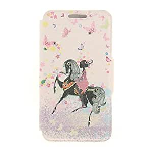 DD Kinston Horse Diamond Paste Pattern PU Leather Full Body Case with Stand for iPhone 6 Plus