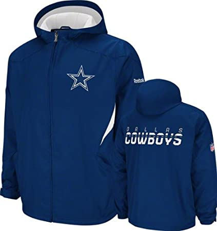 reputable site d8b4e 4dfa1 Reebok Dallas Cowboys Sideline Kickoff Midweight Jacket