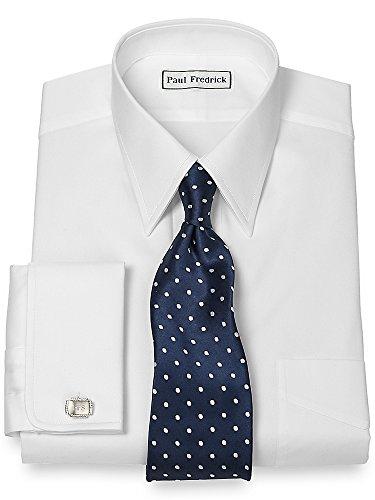French Cuff Oxford Oxford Shirt - Paul Fredrick Men's Pinpoint Straight Collar French Cuff Dress Shirt White 19.0/35