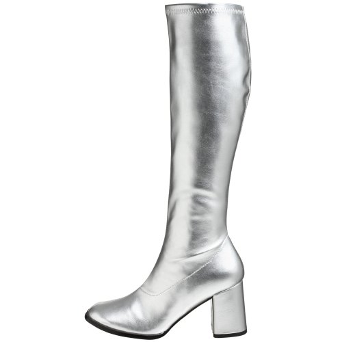 Alto Funtasma Donna A Collo silver Silver Da 300 Scarpe Gogo qXrRwfX1