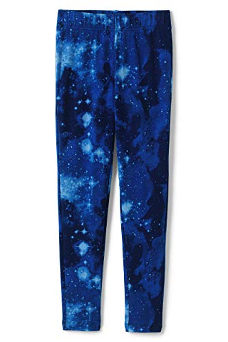 Lands' End Girls Iron Knee Ankle Length Leggings X-Large Cosmic Galaxy