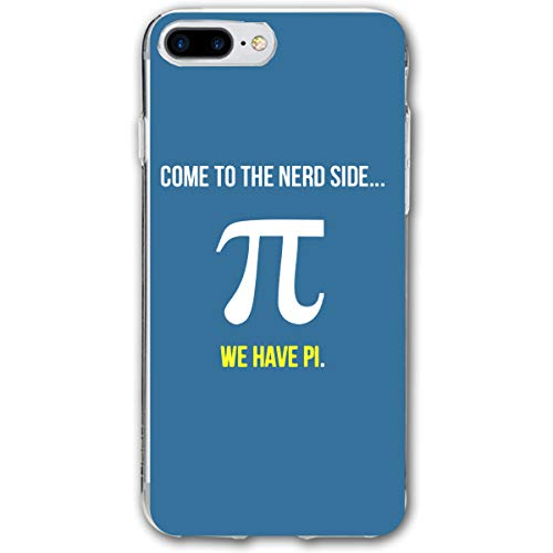 Lookjufjiii80 Silicone Case for iPhone 8 Plus, iPhone 7 Plus Case, Come to The Nerd Side Pi Day Soft Shell Shockproof Gel Rubber Bumper Case Full-Body Protective Cover for Apple iPhone 7/8 Plus 5.5'' -