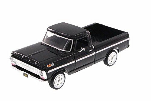 Motor Max 1969 Ford F-100 Pick-Up Truck, Black 79315AC/BK - 1/24 Scale Diecast Model Toy Car -  MOTORMAX, MOT79315AC-BK