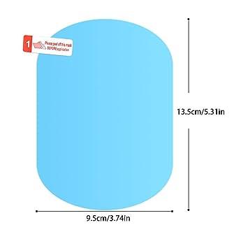 Amazon.es: Eruditter 1 par de película de la Lluvia del Espejo retrovisor del Coche Impermeable y antiniebla película de Cristal del Coche