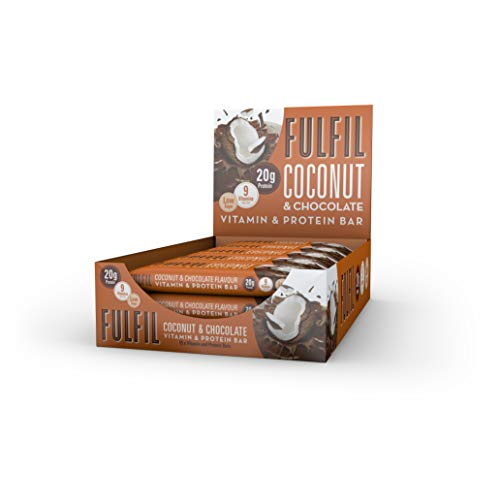 Fulfil Coconut and Chocolate Vitamin and Protein Bar – Pack of 15 by Fulfil