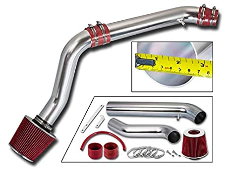 Rtunes Racing Cold Air Intake Kit Filter Combo BLACK Compatible For 92-95 Honda Civic 93-97 Honda Del So