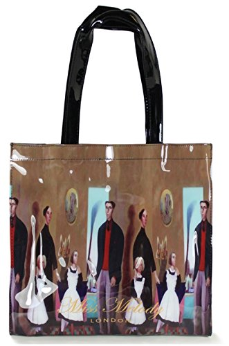 Large Small Shopper Ladies Mini Bag Floral Gossip Girl Medium Brown Bow Glossy Tote Lunch Printed Patent Patterned 4AqwFpn