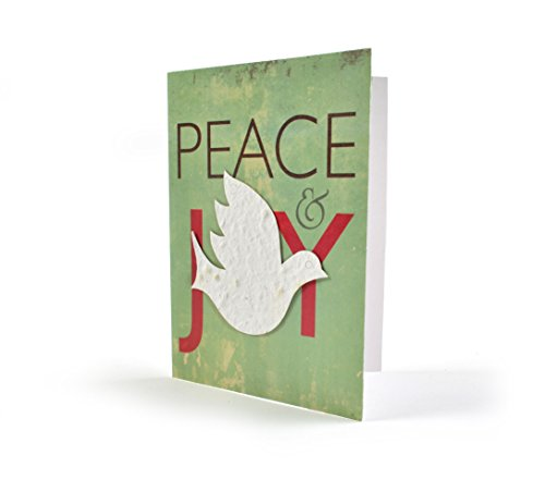 Bloomin Seeds N' Greetings Cards – Handmade Seed Paper -Peace  Joy {8 Pack}