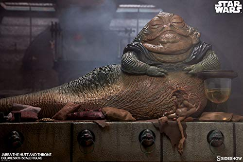 - Sideshow Collectibles Star Wars Jabba The Hutt Throne Deluxe 1/6 Scale Figure