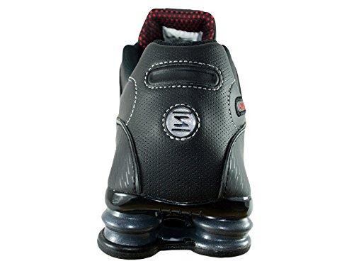Zapatos corrientes de cuero Shox NZ Black/Varsity Red/White