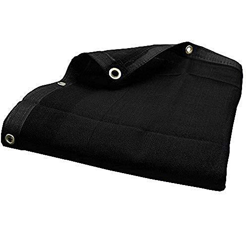 10' x 30' (Black) HD Mesh Tarp Net Sun Shade Fence Screen Patio Canopy Cover (30' Black Mesh)