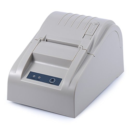 ZJ-5890T impresora de recibos térmicos pequeño ticket impresora interfaz USB supermercado caja registradora imprimir blanco...