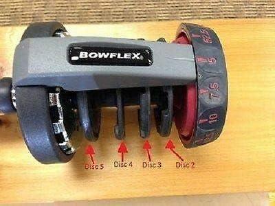 Discs 2 3 4 /& 5 set Bowflex//Nautilus Dumbbells Select-tech 552 Series 1